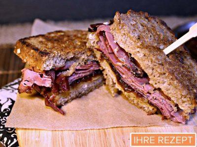 Pastrami Sandwich vom Grill